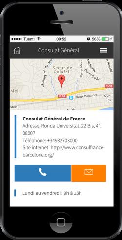 Trouvez services francophones par la géolocalisation en augmentant la visibilité grâce à l'app Expat by INOV